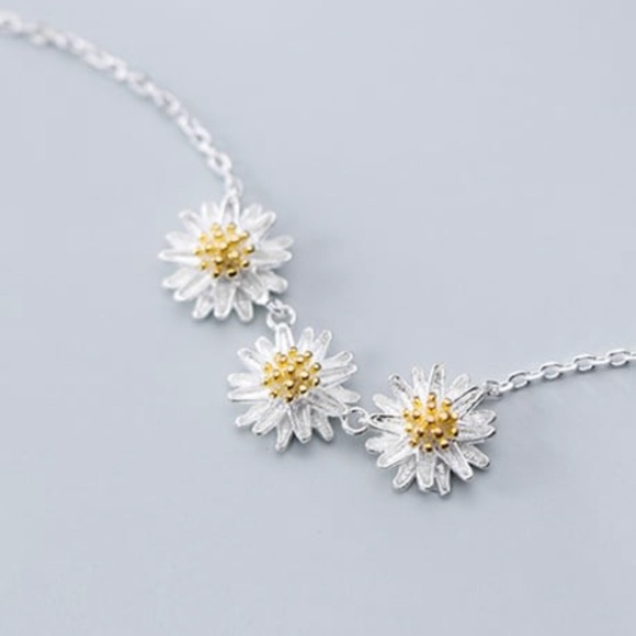 925 Sterling Silver Cute Flower Necklaces